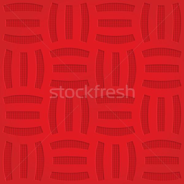 赤 3  縞模様の グリッド 幾何学的な ストックフォト © Zebra-Finch