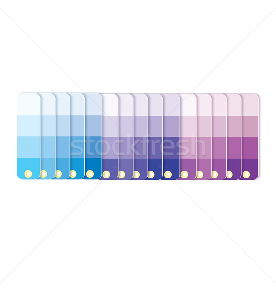 Swatches with tints in row  vector Stock photo © Zebra-Finch