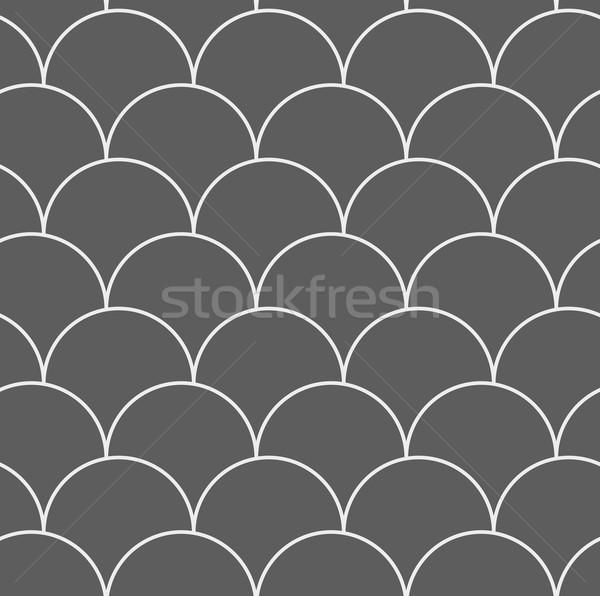 Stock photo: Dark gray overlapping circles