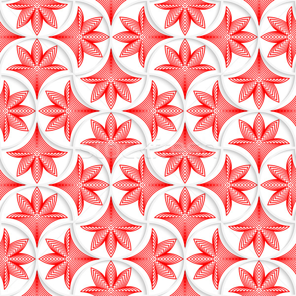 3D white pin will grid with striped floral leaves Stock photo © Zebra-Finch