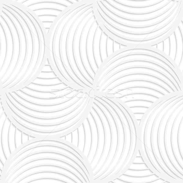 White paper 3D slim stripes circle pin will Stock photo © Zebra-Finch
