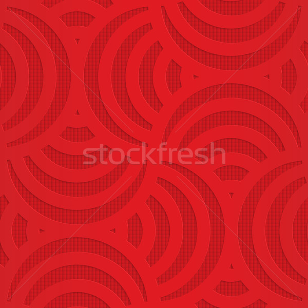 Red turning arcs on checkered background Stock photo © Zebra-Finch
