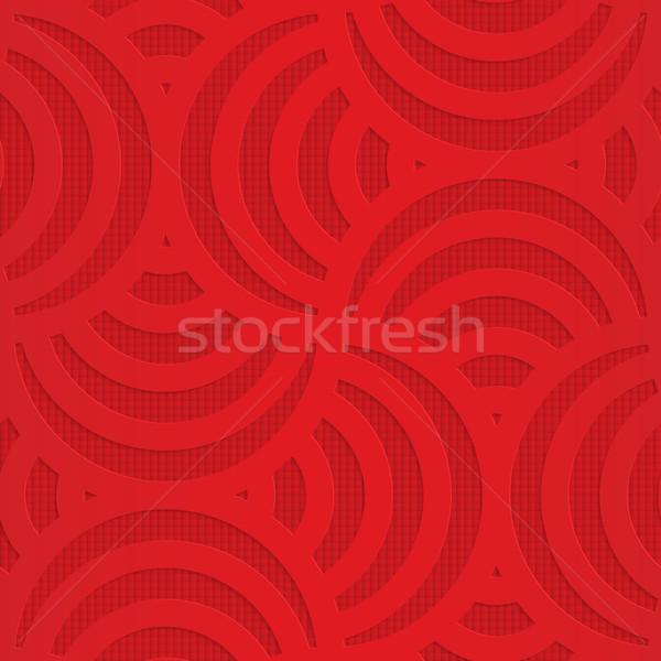 Kırmızı geometrik 3D Stok fotoğraf © Zebra-Finch