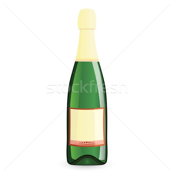 Green bottle vector illustration Stock photo © Zebra-Finch