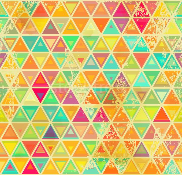 Triangular vintage grange seamless Stock photo © Zebra-Finch