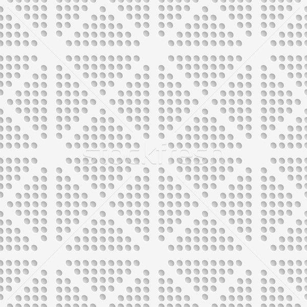 White dots perforated seamless Stock photo © Zebra-Finch