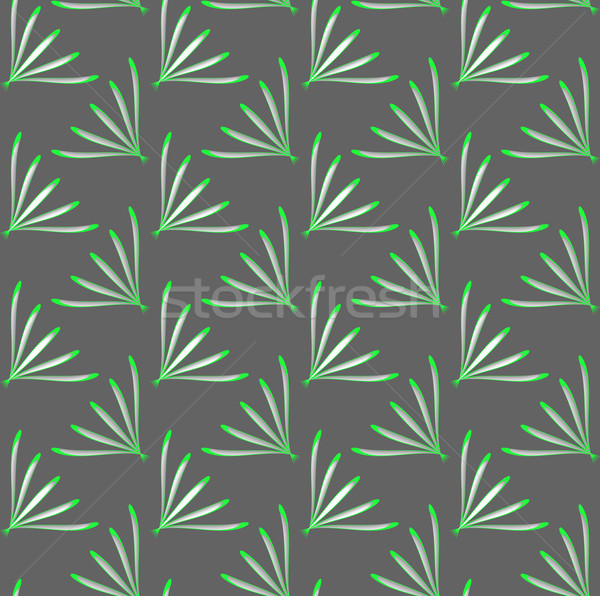 Geometrical ornament with green perforated dill leaves Stock photo © Zebra-Finch
