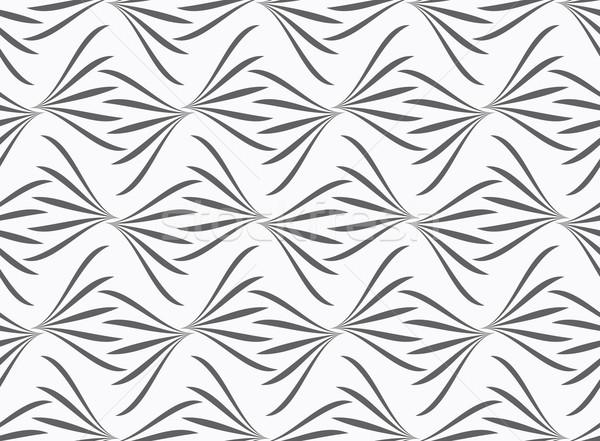 飾り グレー フローラル シームレス スタイリッシュ ストックフォト © Zebra-Finch