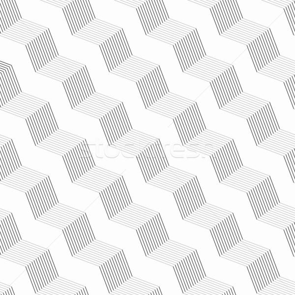 Monokróm minta szürke csíkos átló fonatok Stock fotó © Zebra-Finch