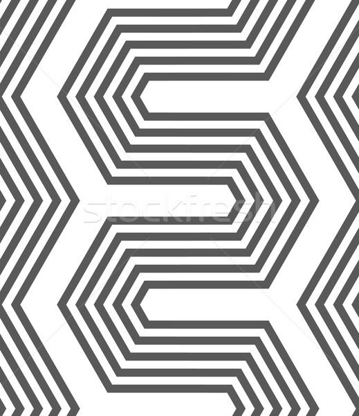 Monocromático ziguezague sem costura padrão geométrico cinza abstrato Foto stock © Zebra-Finch
