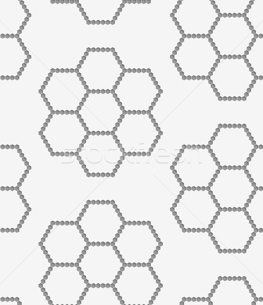 Perforated paper with hexagons forming flowers Stock photo © Zebra-Finch