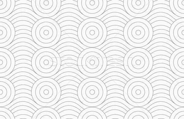 Gray circles merging with continues lines Stock photo © Zebra-Finch