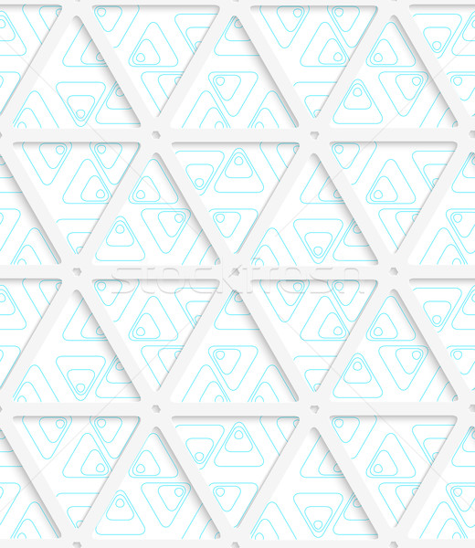 3D 青 グリッド 幾何学的な 現代 ストックフォト © Zebra-Finch