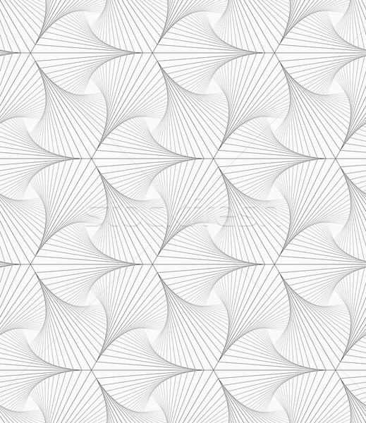 Gray striped shapes resembling pointy trefoil Stock photo © Zebra-Finch