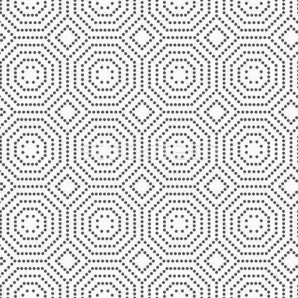Pointillé résumé géométrique monochrome design Photo stock © Zebra-Finch