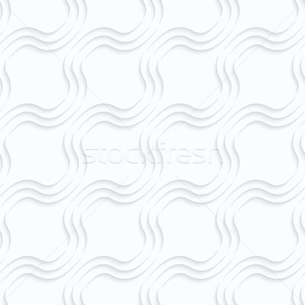 Quilling paper diagonal bulging waves Stock photo © Zebra-Finch