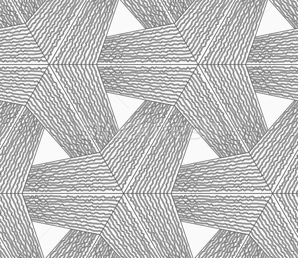монохромный грубо полосатый бесшовный геометрическим рисунком серый Сток-фото © Zebra-Finch