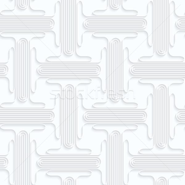 Kâğıt çift geometrik 3D Stok fotoğraf © Zebra-Finch