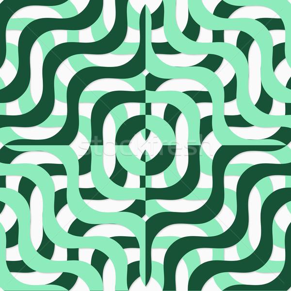 Retro 3D verde ondulado Foto stock © Zebra-Finch