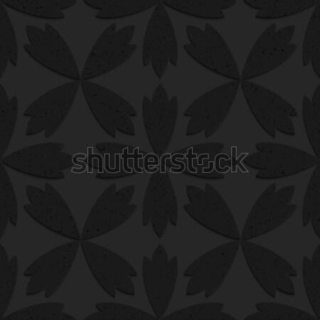 Siyah plastik soyut dört geometrik Stok fotoğraf © Zebra-Finch