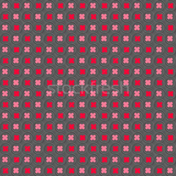 красный розовый волосатый Круги бесшовный Сток-фото © Zebra-Finch
