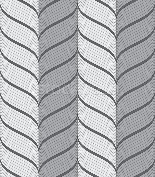 Ribbons gray vertical chevron pattern Stock photo © Zebra-Finch