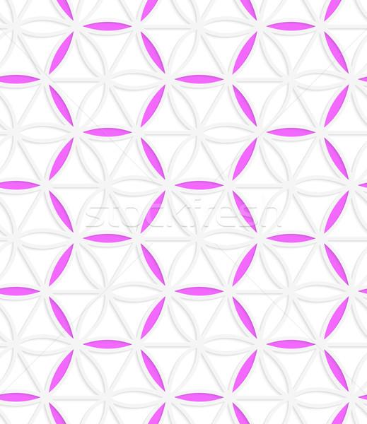 3D rosa red sin costura patrón geométrico Foto stock © Zebra-Finch