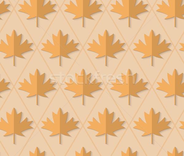 Retro fold light brown maple leaves Stock photo © Zebra-Finch
