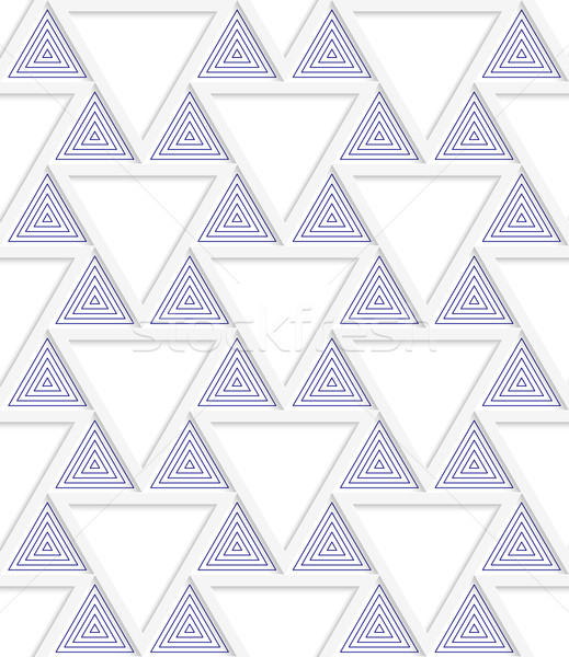 Colored 3D blue triangles with grid Stock photo © Zebra-Finch