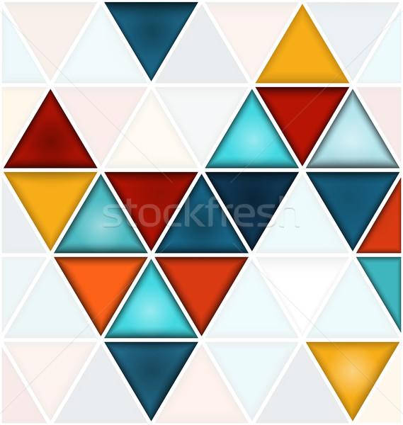 Biały kopia przestrzeń wzór geometryczny kolorowy Zdjęcia stock © Zebra-Finch