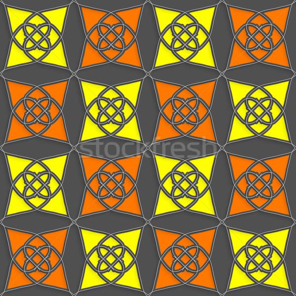 Geometryczne arabski ozdoba szczupły drutu żółty Zdjęcia stock © Zebra-Finch