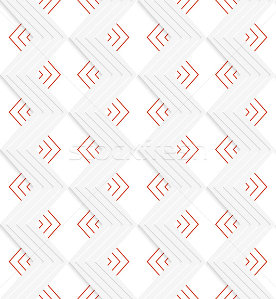 Beyaz zikzak kırmızı geometrik modern Stok fotoğraf © Zebra-Finch