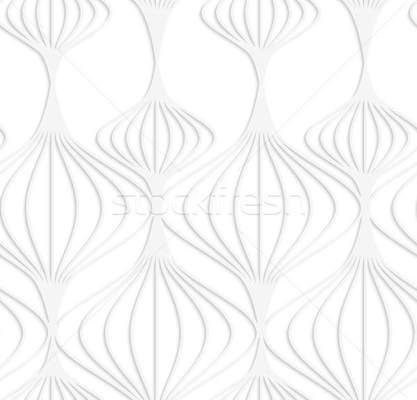 Papír fehér csíkos kínai lámpások végtelenített Stock fotó © Zebra-Finch