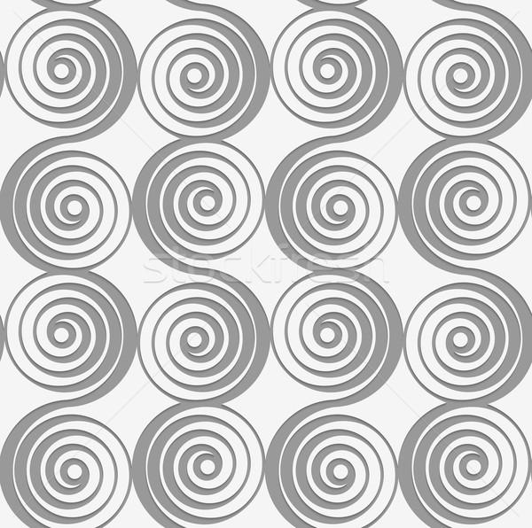 Perforated merging spirals Stock photo © Zebra-Finch