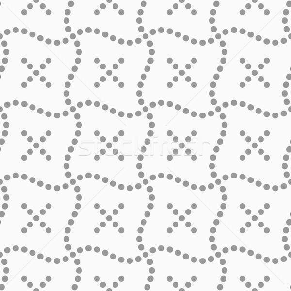 Kropkowany krzyże falisty streszczenie geometryczny Zdjęcia stock © Zebra-Finch