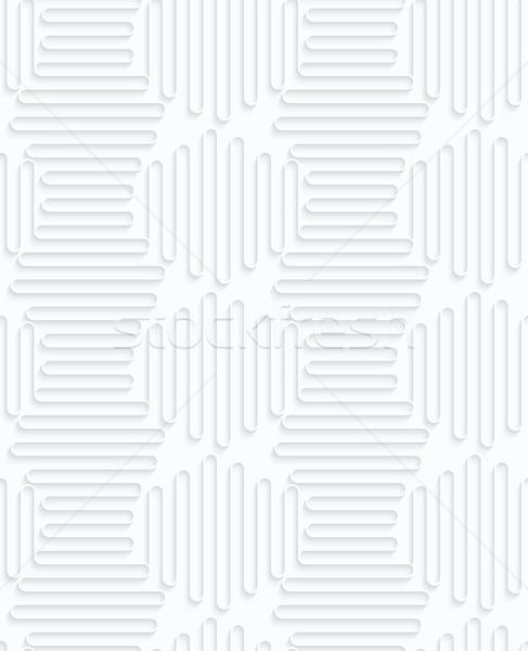Papír vízszintes függőleges hullámok végtelenített 3D Stock fotó © Zebra-Finch