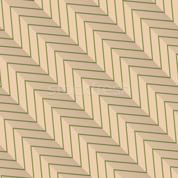 レトロな 緑 対角線 縞模様の ジグザグ ヴィンテージ ストックフォト © Zebra-Finch