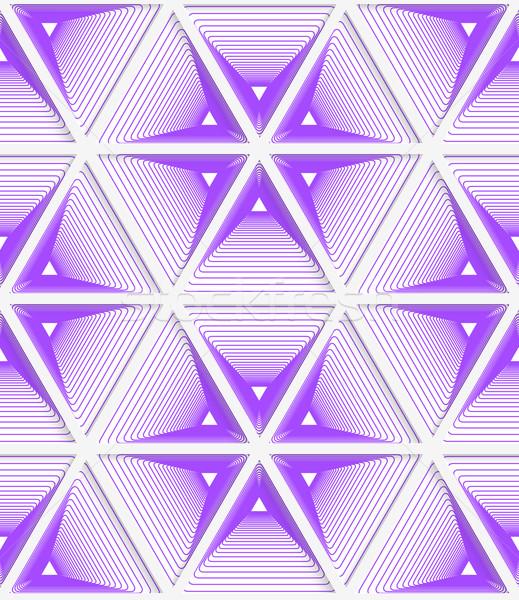 3D 紫色 縞模様の グリッド 幾何学的な ストックフォト © Zebra-Finch