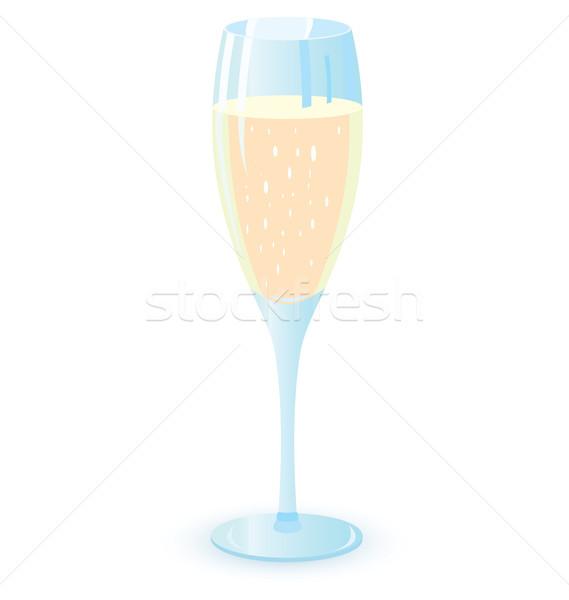 Two champagne glasses vector illutration Stock photo © Zebra-Finch