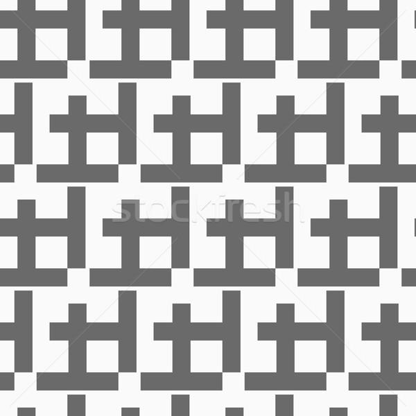 Monochrome pattern with black diagonal w shapes Stock photo © Zebra-Finch