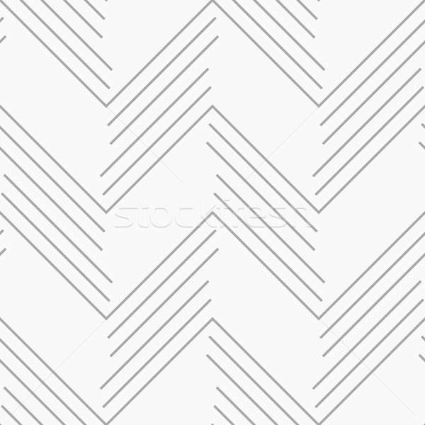 Monochrome pattern with gray chevron lines Stock photo © Zebra-Finch