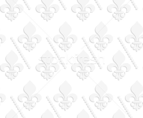 Biały 3D solidny geometryczny nowoczesne monochromatyczny Zdjęcia stock © Zebra-Finch