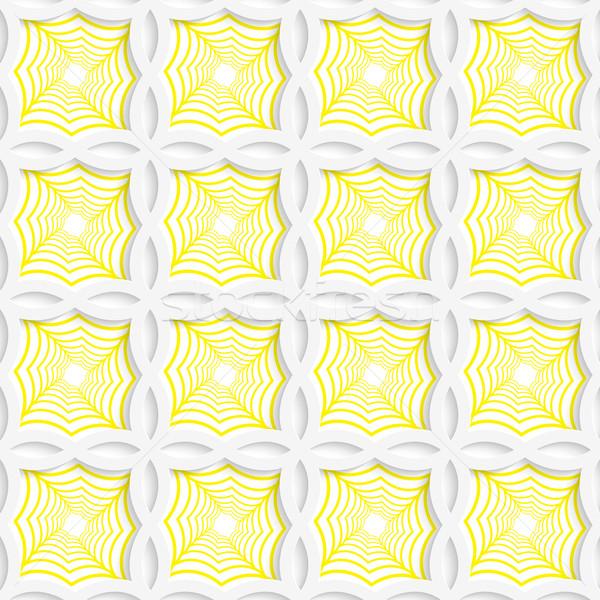 Renkli 3D sarı çizgili kareler geometrik Stok fotoğraf © Zebra-Finch