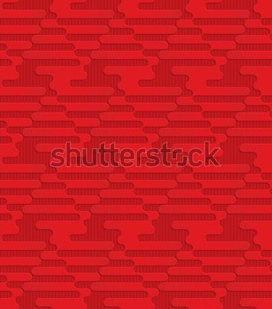 Red triangular waves on checkered background Stock photo © Zebra-Finch