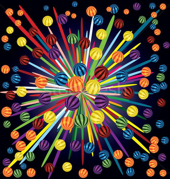 Colorful balls firework Stock photo © Zebra-Finch