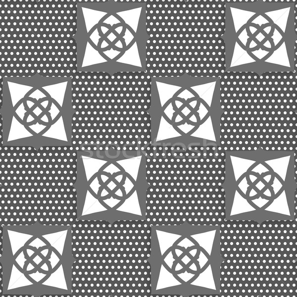 Geometrical Arabian ornament gray with doted texture Stock photo © Zebra-Finch
