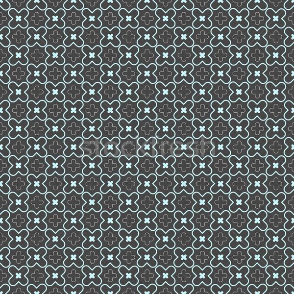 Kolorowy geometryczne wzór niebieski krzyż Zdjęcia stock © Zebra-Finch