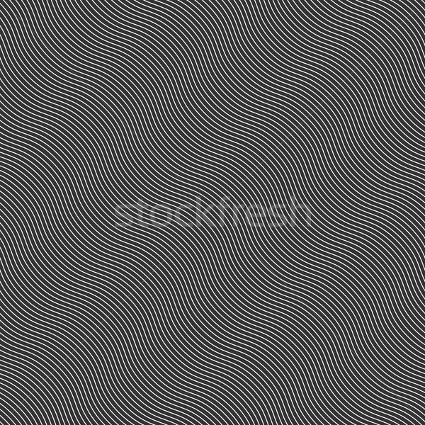 Monochrome pattern with diagonal wavy guilloche texture Stock photo © Zebra-Finch