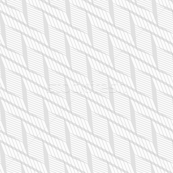 Monochrome pattern with light gray braid grid on white Stock photo © Zebra-Finch