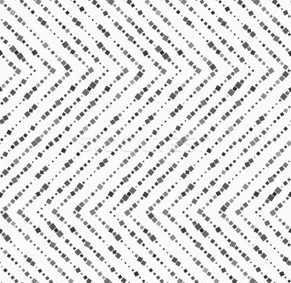 Casuale piazze orizzontale zig-zag in bianco e nero Foto d'archivio © Zebra-Finch